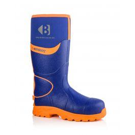Buckler BBZ8000 Buckbootz Hi-Viz Full Safety Wellies Neoprene Lined Blue/Orange S5 HRO CI HI AN SRC