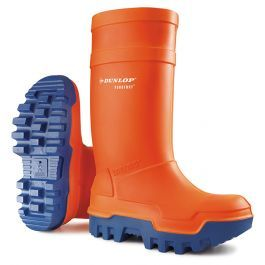 Dunlop Purofort Thermo+ Full Safety Wellington Boots Orange