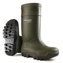 Dunlop Purofort Thermo+ Full Safety Wellington Boots Green