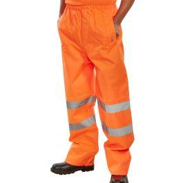 B Seen Hi-Vis Traffic Trousers Orange