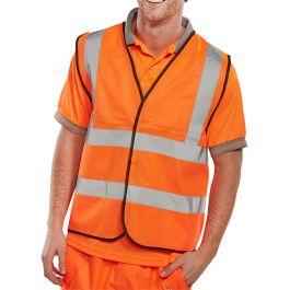 B-Seen Hi-Vis Vest Waistcoat Orange