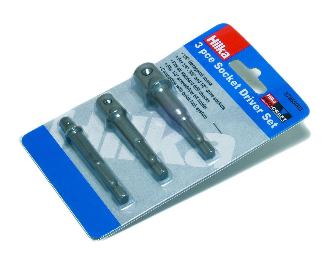 Hilka Pro Craft Socket Adaptor 3 Piece