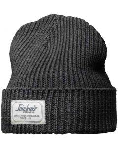 Snickers 9023 AllroundWork Fisherman Beanie Hat Dark Grey One Size