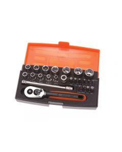"Bahco SL25  25 Piece Socket Set Metric 1/4"" Drive"
