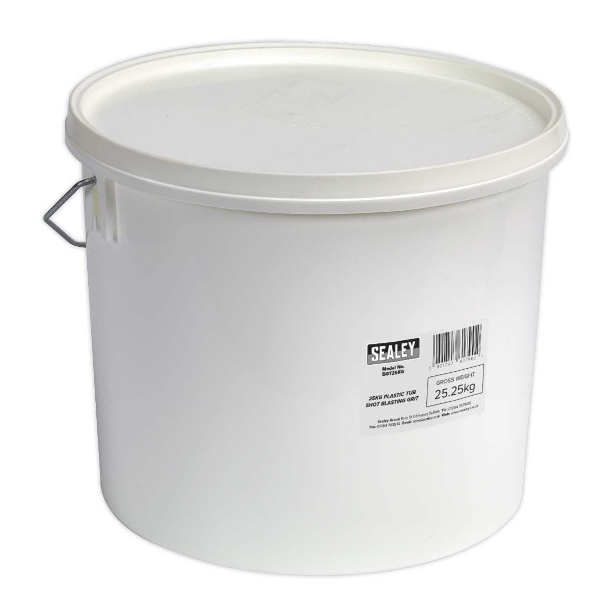 Sealey Shot Blasting Grit 25kg Plastic Tub