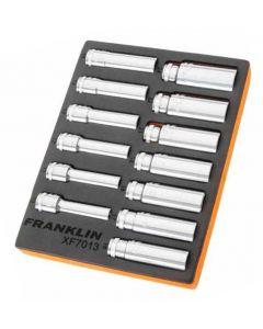 "Franklin XF 13 Piece 6 Point Deep Socket Set 1/2"" Drive"