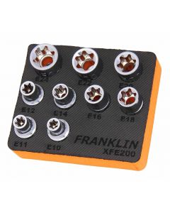 "Franklin XF 9 Piece External Star Socket Set 1/2"" Drive"