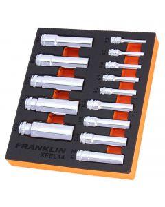Franklin XF 14 Piece External Star Deep Socket Set Mixed Drive