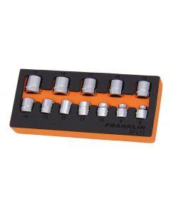 "Franklin XF 12 Piece 12 Point Low Profile Socket Set 3/8"" Drive"