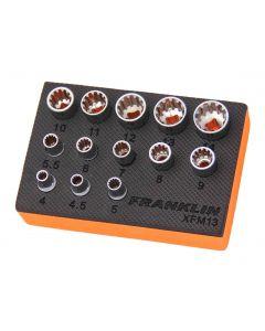 """Franklin XF 13 Piece Multi-Drive Socket Set 1/4"""" Drive"""