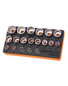 """Franklin XF 19 Piece Multi-Drive Socket Set 3/8"""" Drive"""