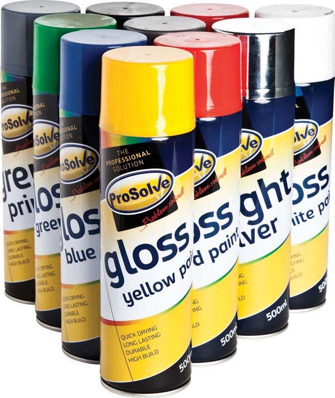 Prosolve All Purpose Acrylic Gloss Spray Paints 500ml