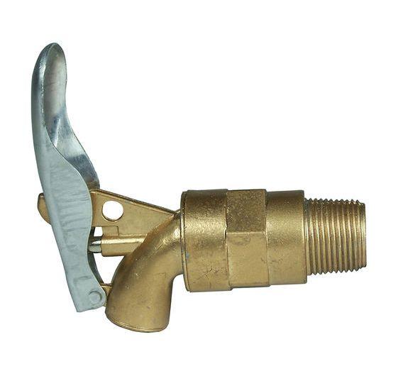 "Lumeter 3/4"" BSP Lockable Metal Self Closing Drum Tap"