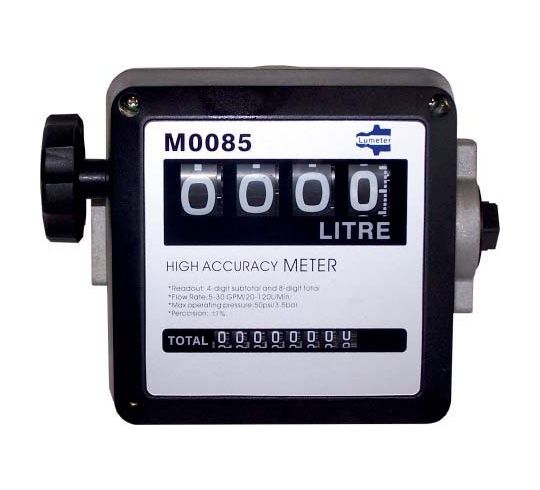 "Lumeter 1"" BSP Aluminium Mechanical Meter For Fuels & Oils"