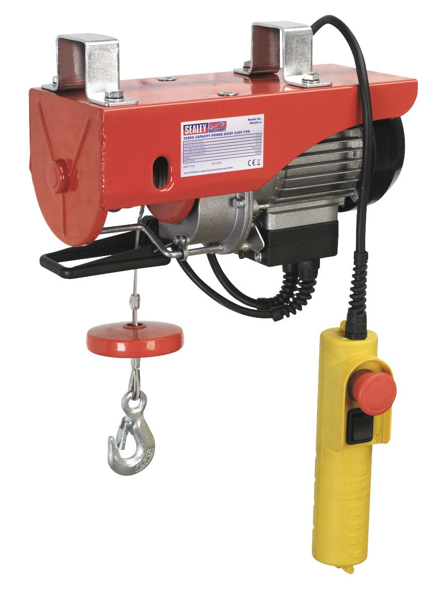 Sealey Power Hoist 230V/1ph 250kg Capacity