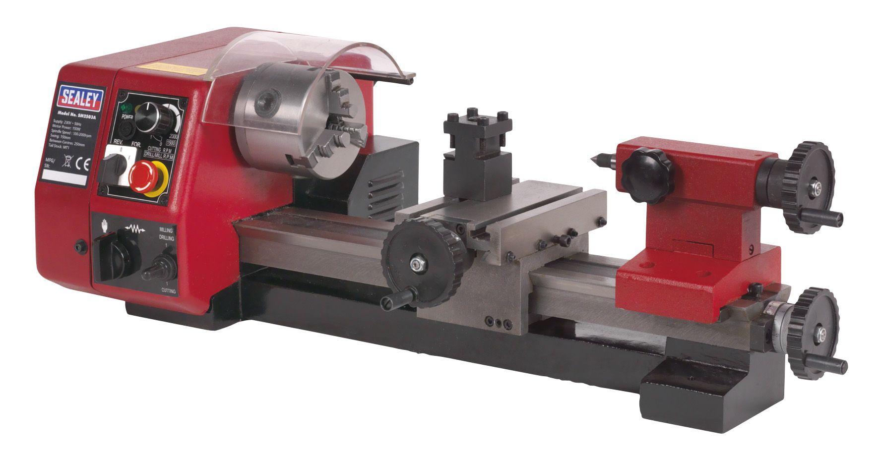 Sealey Metalworking Mini Lathe 250mm