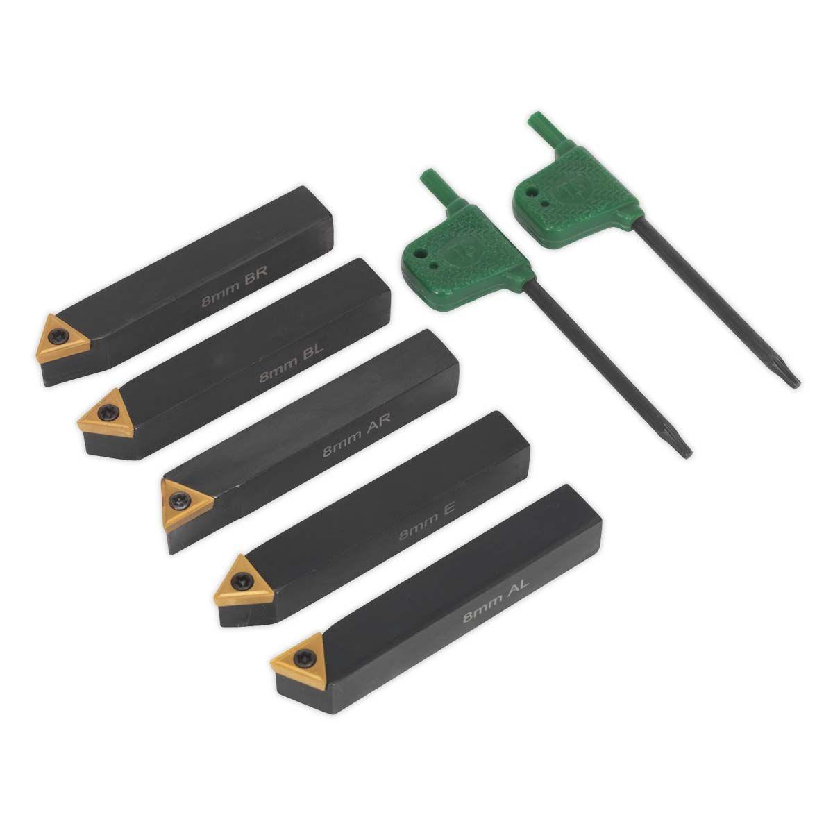Sealey Indexable 8mm Lathe Turning Tool Set 5pc