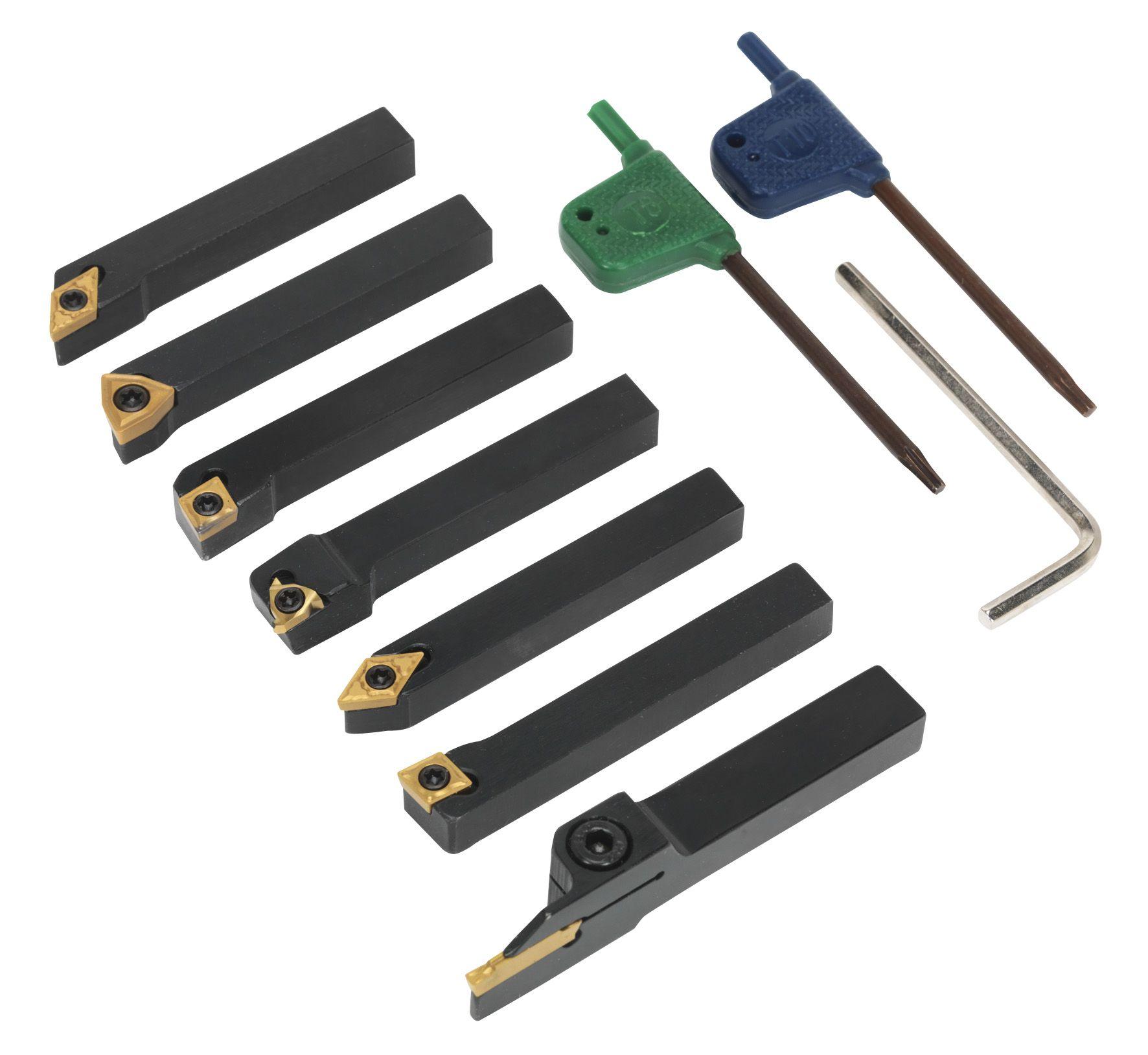 Sealey Indexable 8mm Lathe Turning Tool Set 7pc