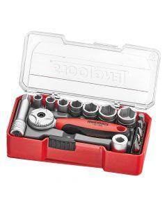 "Teng Tools 1/4"" Drive Socket Set 15 Piece"