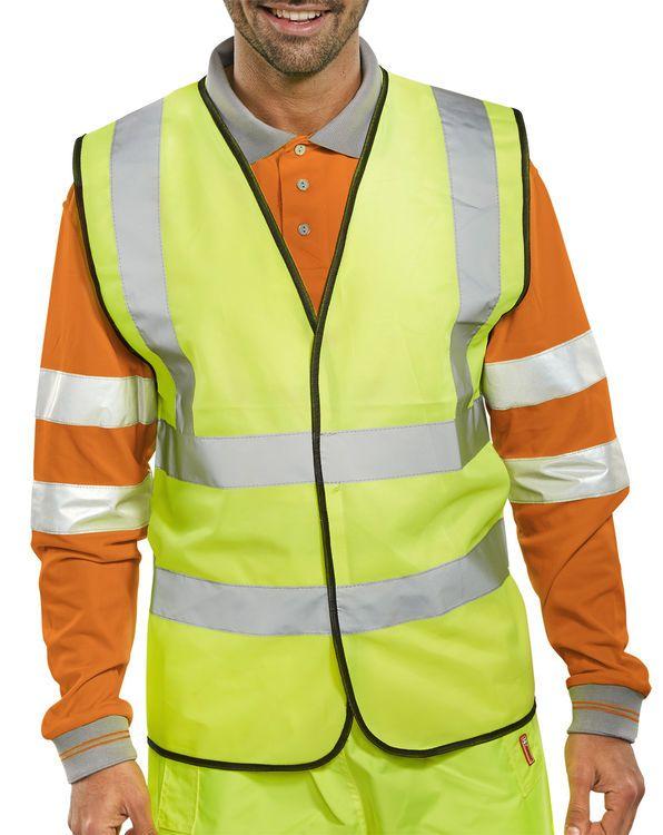 B-Seen Hi-Vis Vest Waistcoat Saturn Yellow