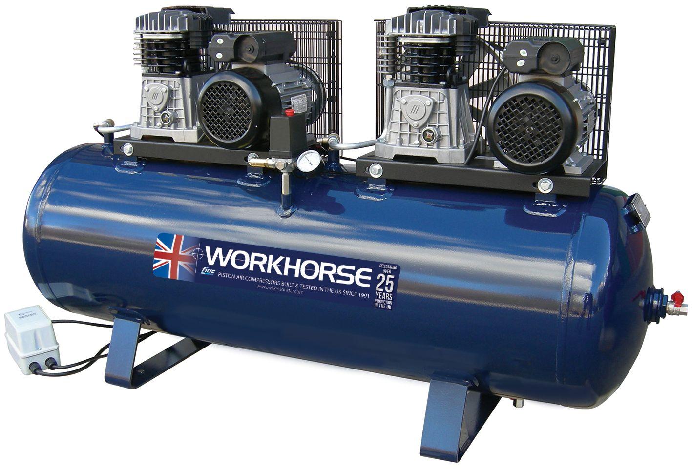 Fiac Workhorse Belt Drive Tandem Air Compressors 230v
