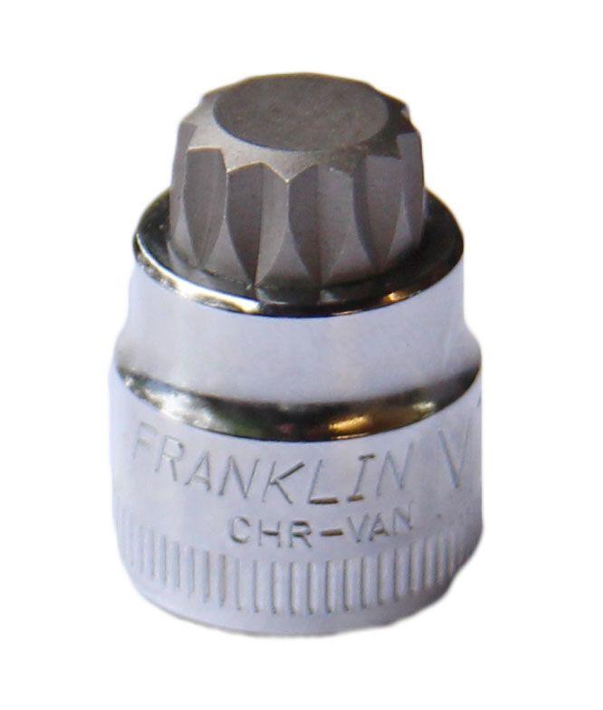 """Franklin XF Low Profile Spline Socket 3/8"""" Drive"""